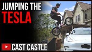 JUMPING THE TESLA!!!