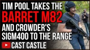 Tim Pool UNLEASHES Crowder's SigM400 And A Barret M82 At The Range