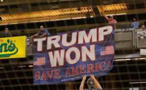 Fan Who Hung 'Trump Won' Banner Banned From MLB Games