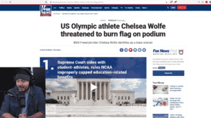 Transwoman Competing In Olympics Posts About Wanting to BURN US Flag On Podium w/ Ron Coleman