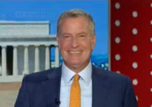 NYC Mayor Bill de Blasio Says Speaking Against COVID-19 Vaccinations is 'Criminal' (VIDEO)