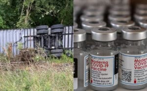 HHS Says All 1.2 Million Moderna Vaccines From WV Truck Crash Are Accounted For