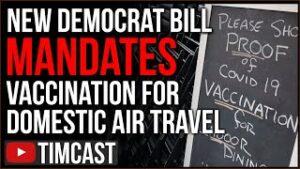 New Democrat Bill Mandates Vaccines For Domestic Air Travel, FDA Approval Ignites Wave Of Mandates