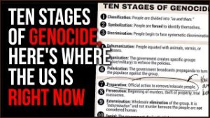 America IS Advancing On The 10 Steps Toward Genocide, Where We Are Now