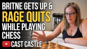 Britne Gets Up And RAGE QUITS While Playing Chess At The Cast Castle