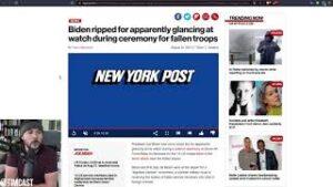 Biden Admin In CHAOS After Droning CHILDREN, Biden Checks Watch At Ceremony For Fallen Troops