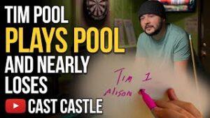 Tim Pool Plays Pool And Narrowly Wins
