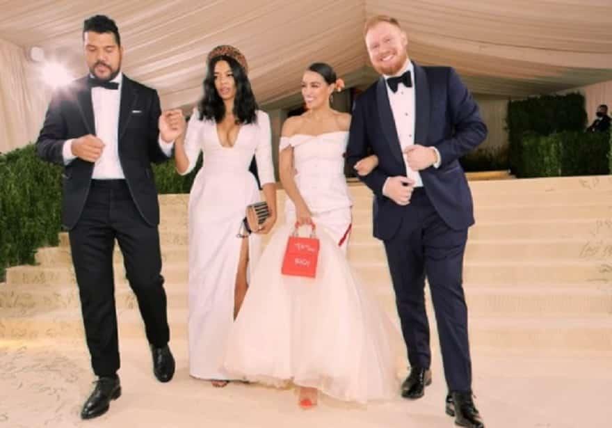 Alexandria Ocasio-Cortez Attended Ultra Swanky Met Gala With Billionaire Seagram's Heir