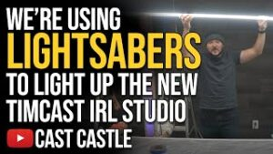 We're Using LIGHTSABERS To Light Up The New Timcast IRL Studio