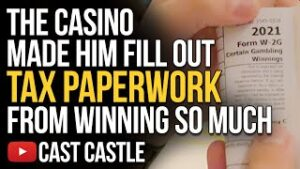 The Casino Made Him Fill Out Tax Paperwork From Winning So Much!