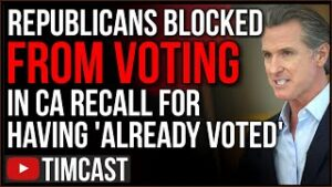 Republicans BLOCKED From Voting In Newsom Recall Told They Already Voted, Larry Elder STILL May WIN