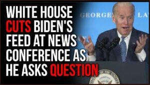 White House CUTS Biden's Feed After He Asks A Question At News Conference