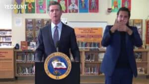 Gavin Newsom Announces COVID Vaccine Mandate for All Eligible School Children in California