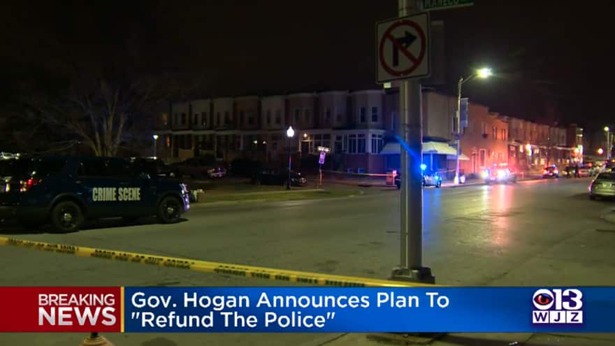 Maryland Governor Vows to 'Re-Fund the Police' to 'Increase Crime Control'