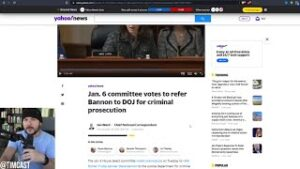 Democrats Have Voted To Seek CRIMINAL Prosecution of Steven Bannon, Welcome To The Endgame Folks